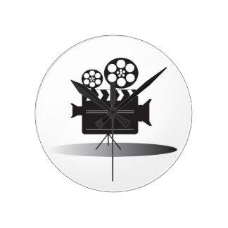 Cine Camera Round Clock