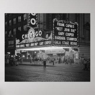 Cine de Chicago en Night, 1941 Impresiones