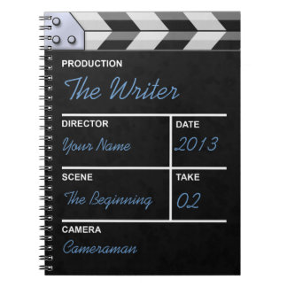 cine del clapperboard notebook