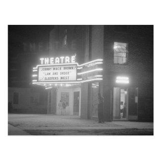 Cine en Night, 1941 Tarjeta Postal