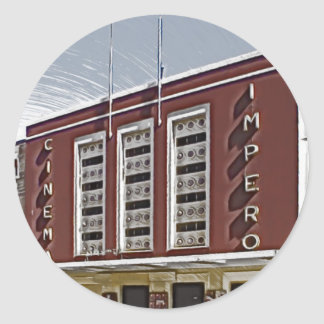 Cine Impero, Asmara Pegatina Redonda