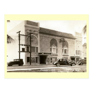Cine lírico, Estuardo, vintage de la Florida Tarjetas Postales