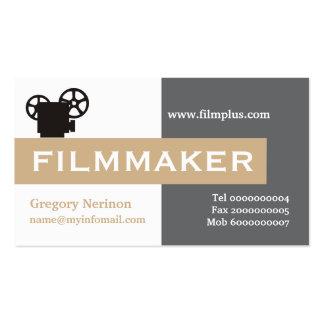 Cineasta gris, blanco, moreno llamativo plantillas de tarjetas de visita