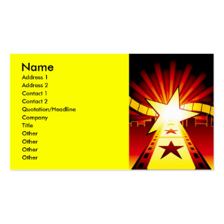 CINEMA7, Name, Address 1, Address 2, Contact 1,... Double-Sided Standard Business Cards (Pack Of 100)