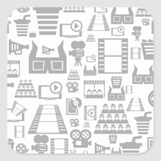 Cinema a background square sticker