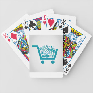 Cinema a cart bicycle playing cards