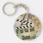 cinema basic round button keychain