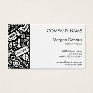 CINEMA BUSINESS CARD white