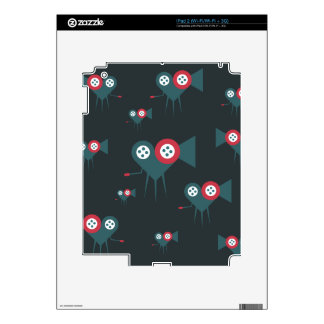 Cinema camera in the shape of love heart rolling skin for iPad 2