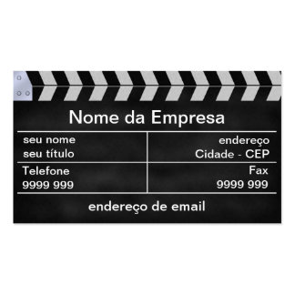 cinema clapperboard business card templates