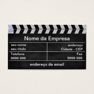 cinema clapperboard business card