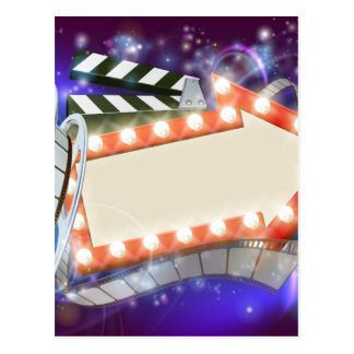 Cinema Film Arrow Sign Abstract Background Postcard