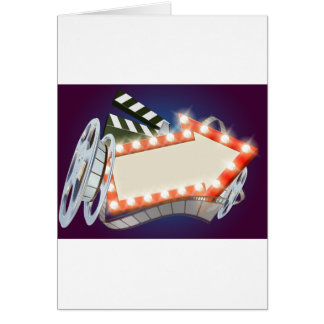 Cinema Film Arrow Sign Background Card