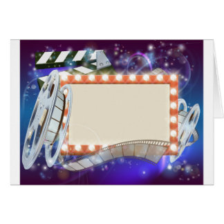 Cinema Film Sign Background Card