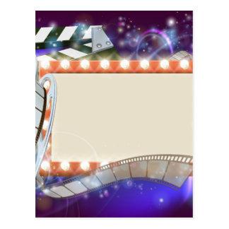 Cinema Film Sign Background Postcard