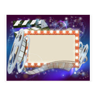 Cinema Film Sign Background Postcard
