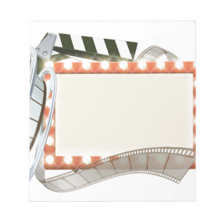 Cinema Film Sign Notepad
