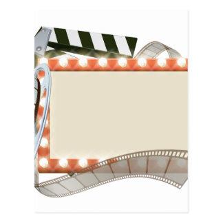 Cinema Film Sign Postcard