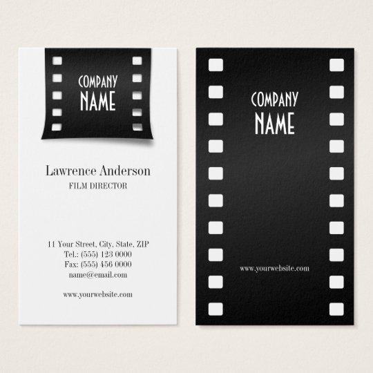 cinema film strip videographer business card zazzle com