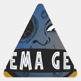 Cinema Geeks Triangle Sticker