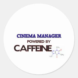 Cinema Manager Powered by caffeine Round Sticker
