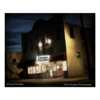 Cinema Paradiso, Victor Gregory Photography Poster