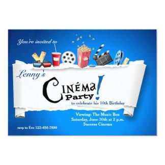 "Cinema Party Invitation 5"" X 7"" Invitation Card"