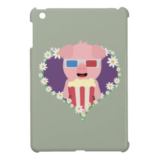 Cinema Pig with flower heart Zvf1w Case For The iPad Mini