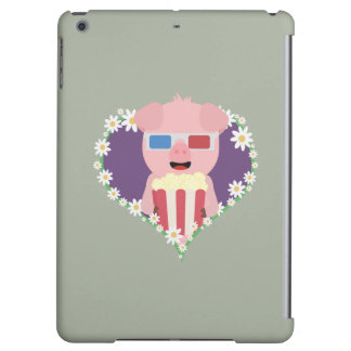 Cinema Pig with flower heart Zvf1w Cover For iPad Air