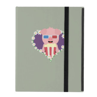 Cinema Pig with flower heart Zvf1w iPad Cover