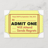 Cinema RSVP Card