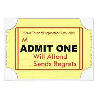 Cinema RSVP Card Invites