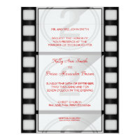 Cinema Small Rectangular Invitation