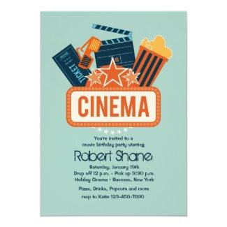 Cinema Star Party Invitation