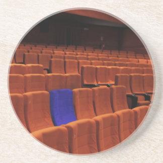 Cinema theater blue seat individual beverage coaster