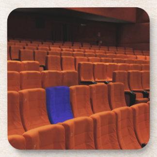 Cinema theater blue seat individual drink coaster