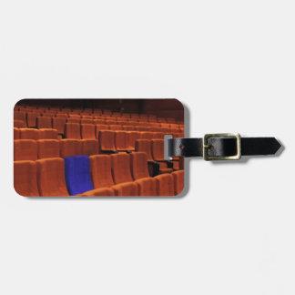 Cinema theater blue seat individual bag tags