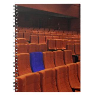 Cinema theater blue seat individual spiral note book