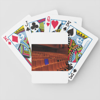 Cinema theater blue seat individual bicycle playing cards