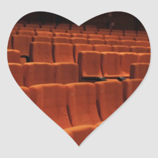 Cinema theater stage seats heart sticker