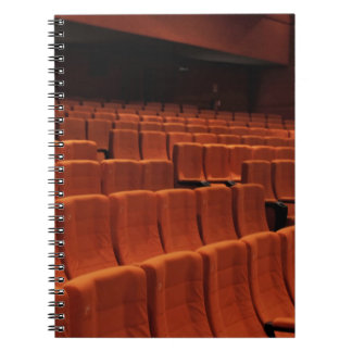 Cinema theater stage seats spiral note books