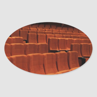 Cinema theater stage seats oval sticker