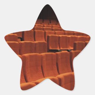 Cinema theater stage seats star sticker
