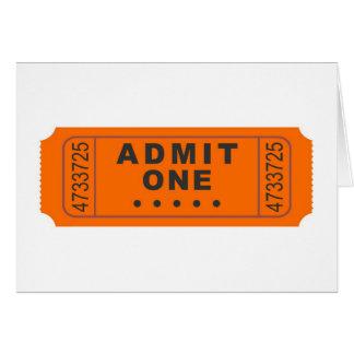 Cinema Ticket Card