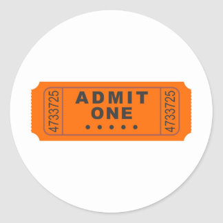 Cinema Ticket Classic Round Sticker