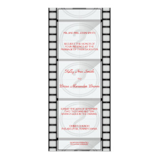 "Cinema Ticket Invitation 4"" X 9.25"" Invitation Card"