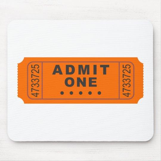 Cinema Ticket Mouse Pad