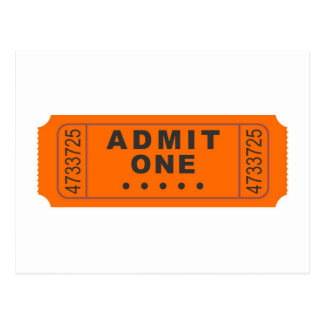 Cinema Ticket Postcard