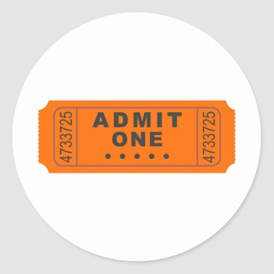 cinema ticket outline