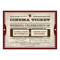 Cinema Ticket - Wedding Invitation (<em>$2.11</em>)